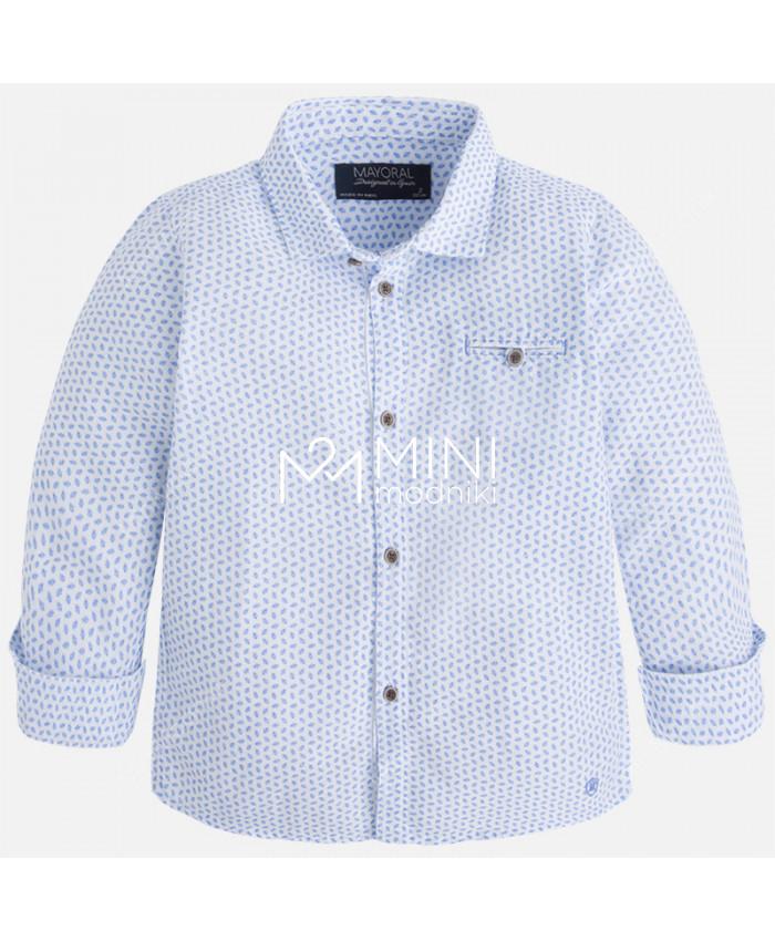 Сорочка бело-голубая от Mayoral - 1