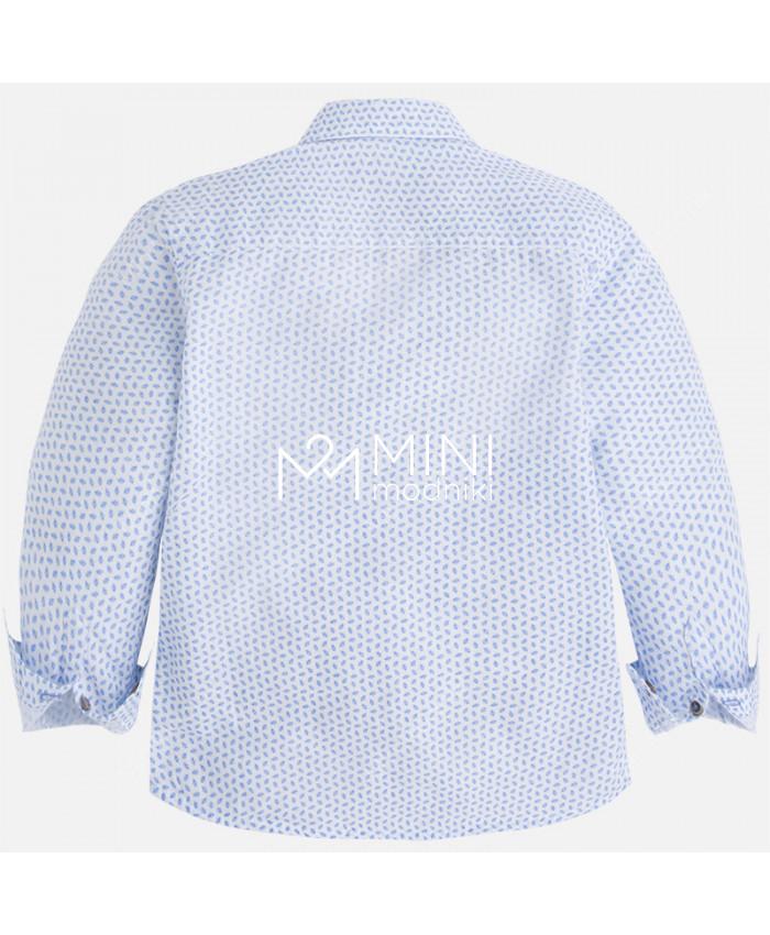 Сорочка бело-голубая от Mayoral - 2