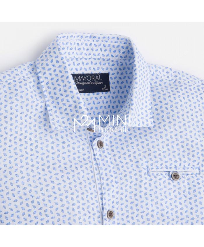 Сорочка бело-голубая от Mayoral - 3