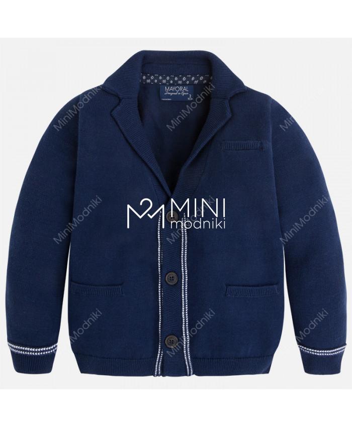 Пиджак трикотажный синий от Mayoral - 1