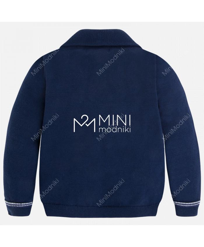 Пиджак трикотажный синий от Mayoral - 3