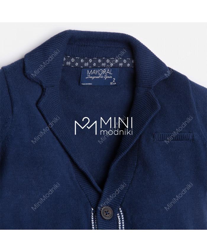 Пиджак трикотажный синий от Mayoral - 2