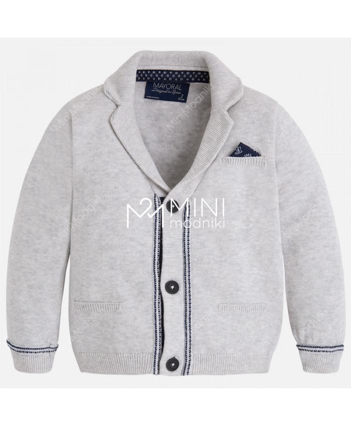 Пиджак трикотажный серый от Mayoral - 1