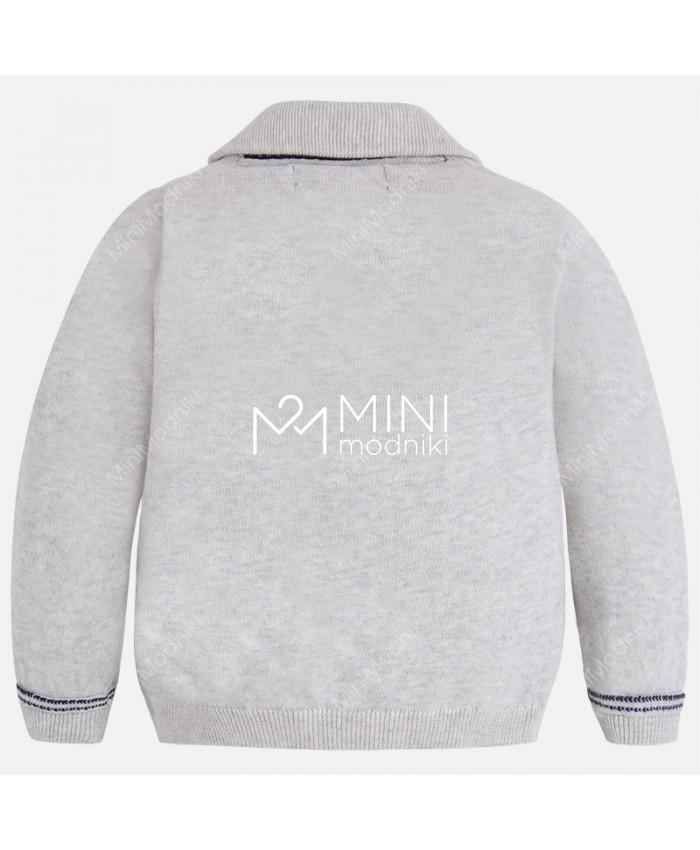 Пиджак трикотажный серый от Mayoral - 3