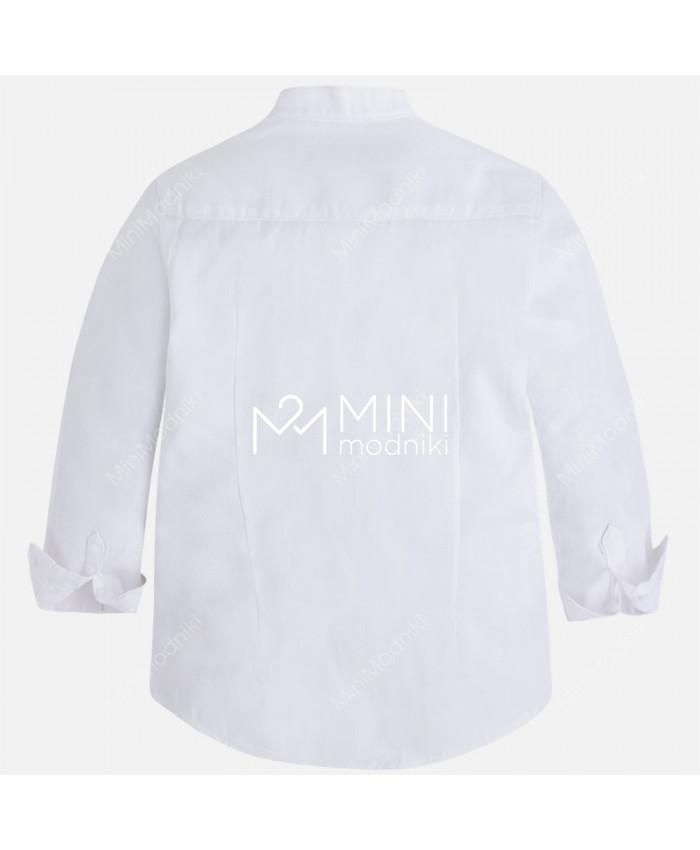 Сорочка белая круглый ворот от Mayoral - 2