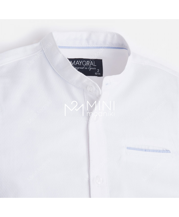 Сорочка белая круглый ворот от Mayoral - 1