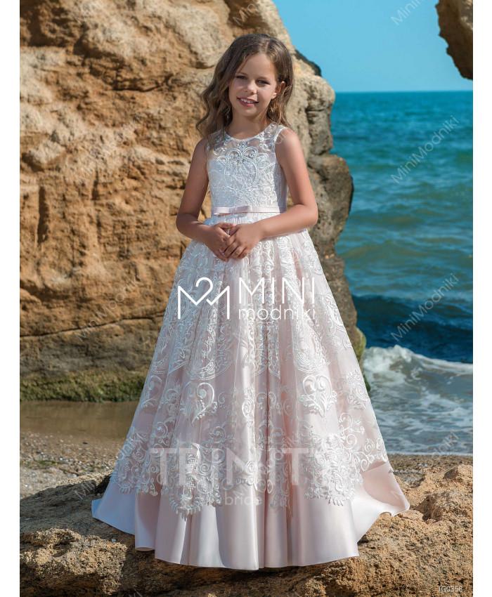 Платье атлас с кружевом от TRINITY bride - 1