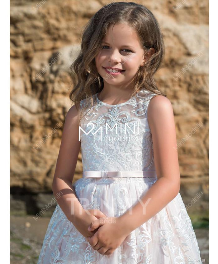 Платье атлас с кружевом от TRINITY bride - 2