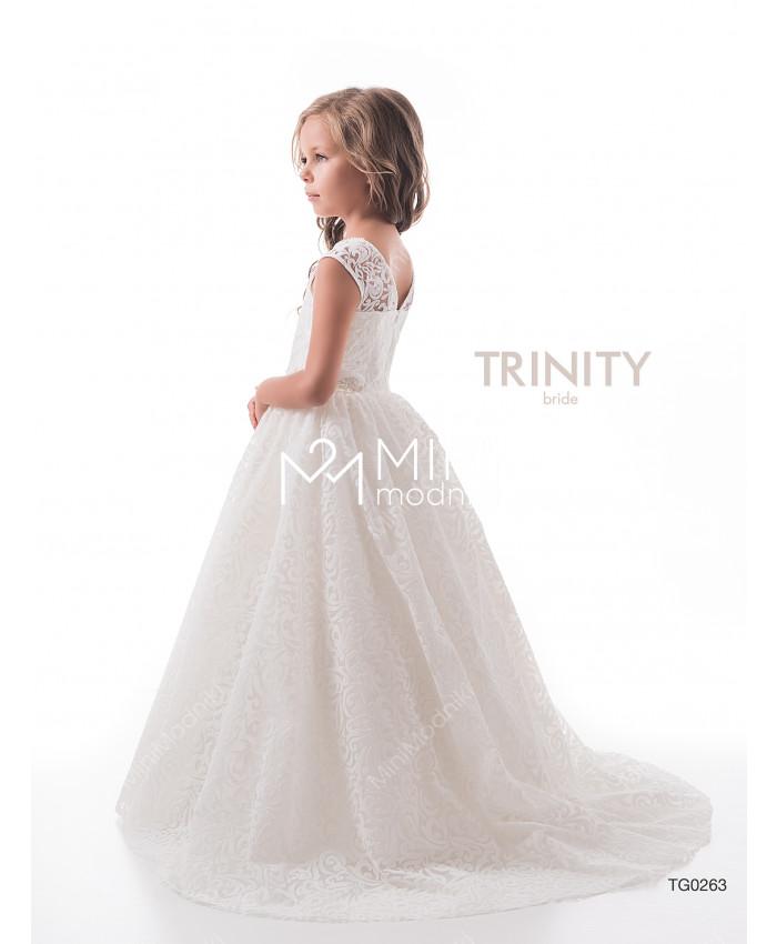 Платье бархат со шлейфом от TRINITY bride - 3