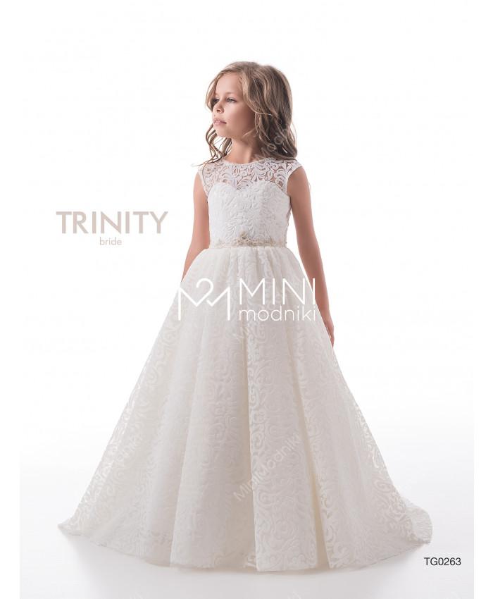 Платье бархат со шлейфом от TRINITY bride - 1