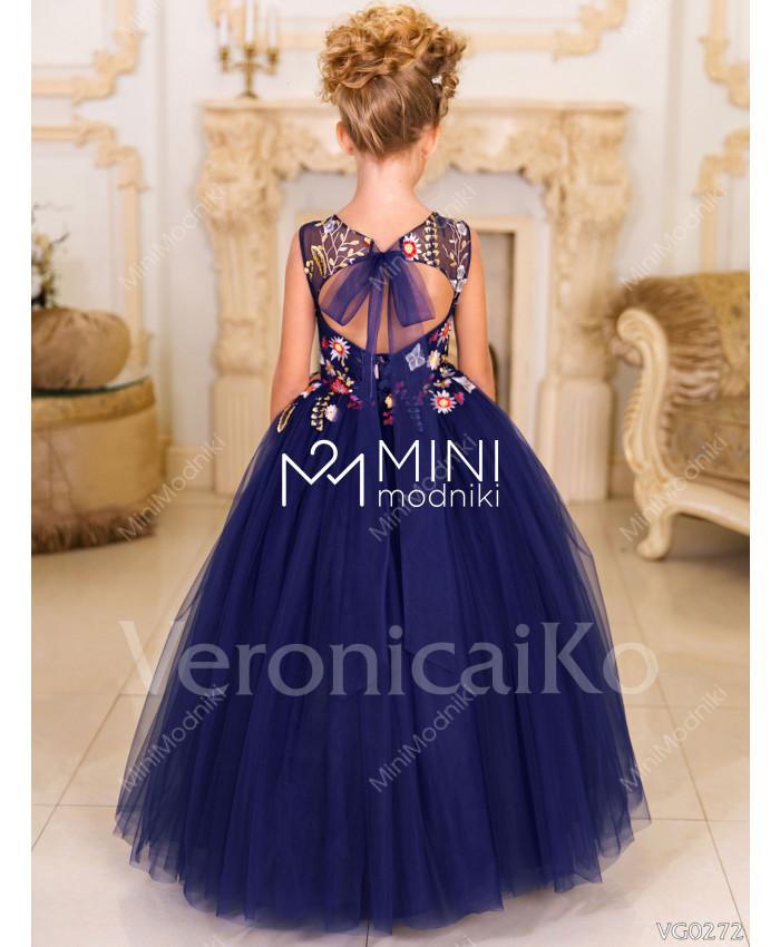 Платье пышное Бабочки синий от Veronicaiko - 2