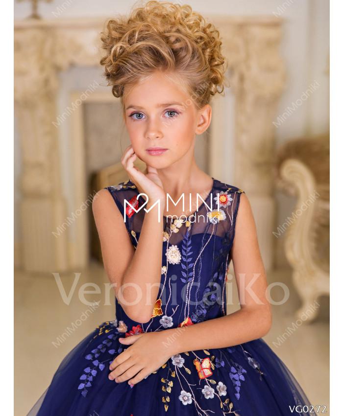 Платье пышное Бабочки синий от Veronicaiko - 4