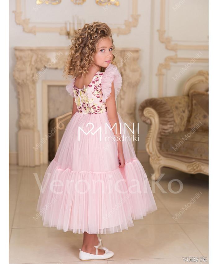 Платье миди Бабочки Розовый от Veronicaiko - 3