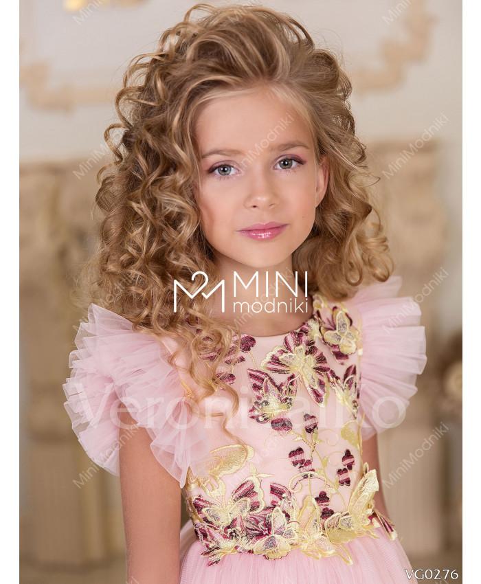 Платье миди Бабочки Розовый от Veronicaiko - 2