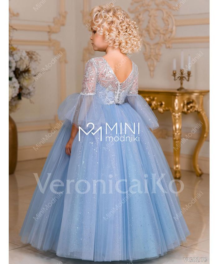 Платье пышное Феерия инея Голубой от Veronicaiko - 4