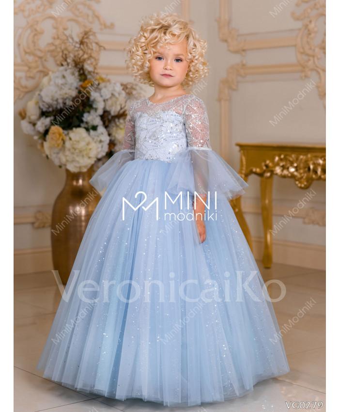 Платье пышное Феерия инея Голубой от Veronicaiko - 1