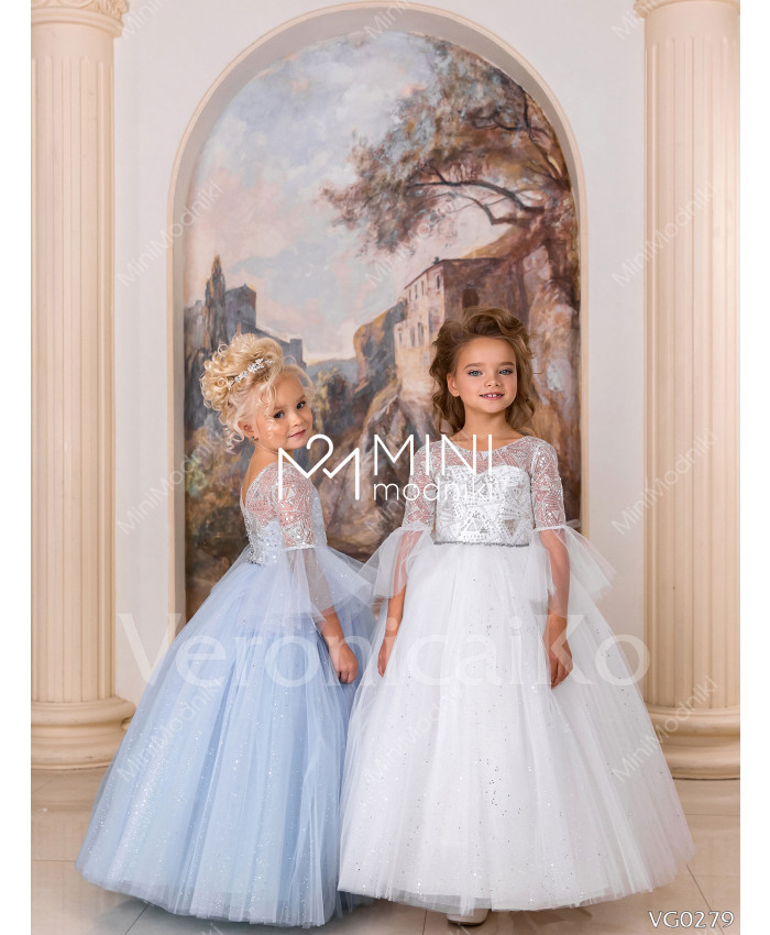 Платье пышное Феерия инея Голубой от Veronicaiko - 3