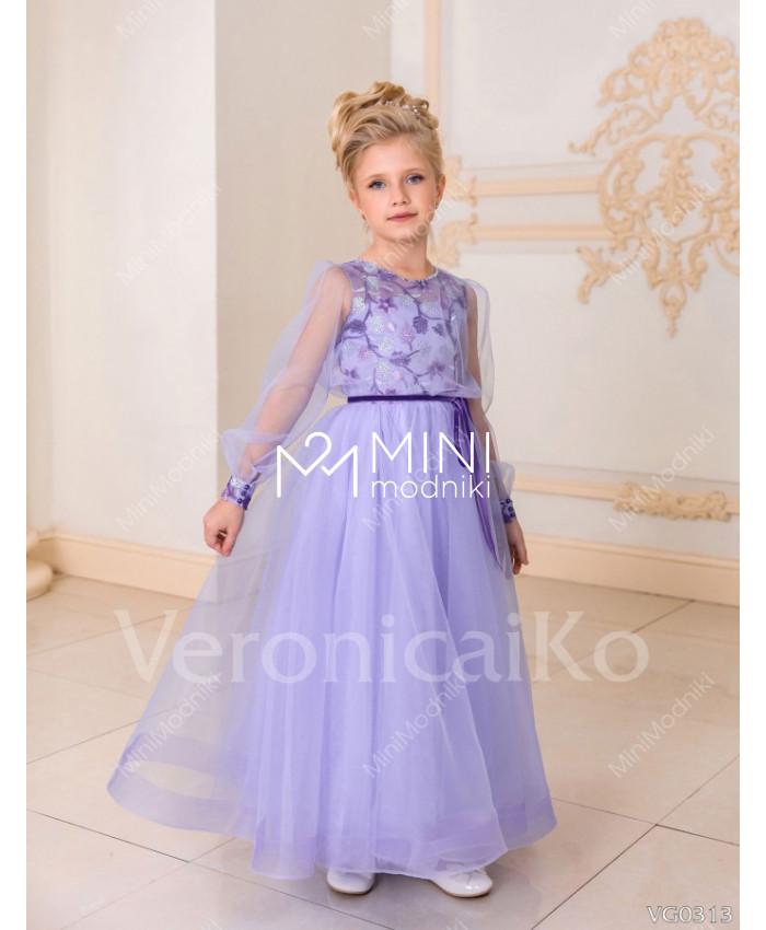 Платье пышное с длинным рукавом Зимние цветы от Veronicaiko - 1